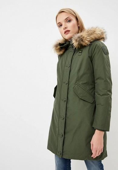 Пуховик, Blauer, цвет: зеленый. Артикул: BL654EWCATT5. Premium / Одежда / Верхняя одежда