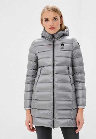 Пуховик, Blauer, цвет: серый. Артикул: BL654EWCATU1. Premium / Одежда / Верхняя одежда