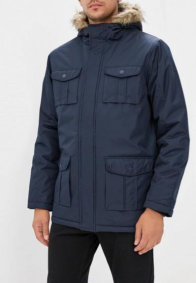 Куртка утепленная, Brave Soul, цвет: синий. Артикул: BR019EMBSJP1. Одежда / Верхняя одежда / Пуховики и зимние куртки