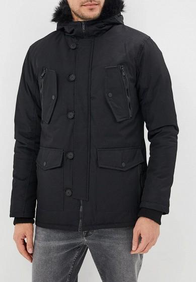 Куртка утепленная, Brave Soul, цвет: черный. Артикул: BR019EMBSJP7. Одежда / Верхняя одежда / Пуховики и зимние куртки