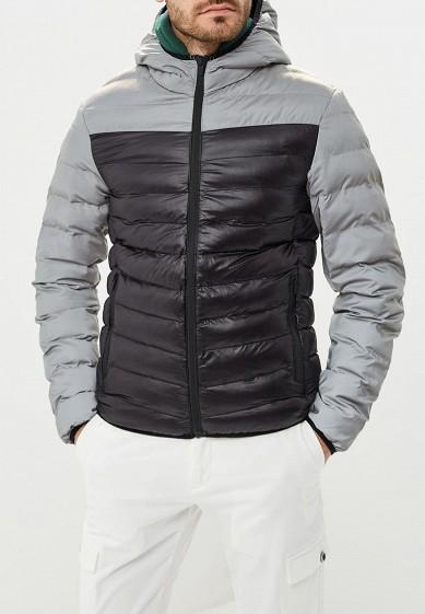 Куртка утепленная, Brave Soul, цвет: серый. Артикул: BR019EMBSJQ0. Одежда / Верхняя одежда / Пуховики и зимние куртки