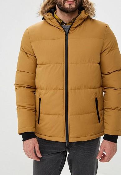 Куртка утепленная, Brave Soul, цвет: желтый. Артикул: BR019EMBSKP1. Одежда / Верхняя одежда / Пуховики и зимние куртки