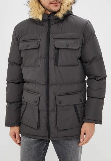 Куртка утепленная, Brave Soul, цвет: серый. Артикул: BR019EMBSLU8. Одежда / Верхняя одежда / Пуховики и зимние куртки