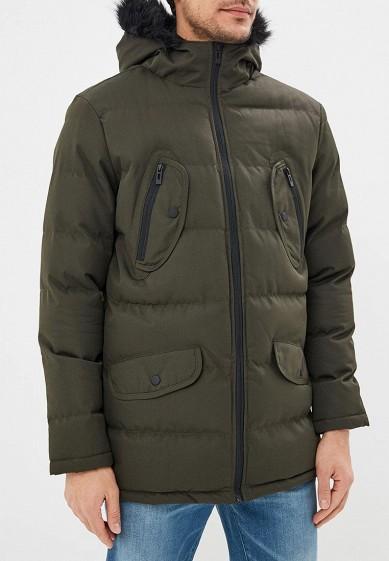 Куртка утепленная, Brave Soul, цвет: хаки. Артикул: BR019EMBSLY1. Одежда / Верхняя одежда / Пуховики и зимние куртки