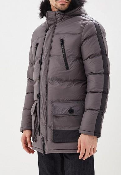 Куртка утепленная, Brave Soul, цвет: серый. Артикул: BR019EMBSLY3. Одежда / Верхняя одежда / Пуховики и зимние куртки