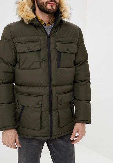 Куртка утепленная, Brave Soul, цвет: хаки. Артикул: BR019EMBSLY5. Одежда / Верхняя одежда / Пуховики и зимние куртки