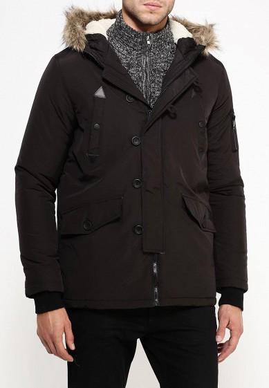 Куртка утепленная, Brave Soul, цвет: черный. Артикул: BR019EMJRH77. Одежда / Верхняя одежда