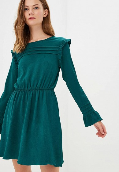Платье, Brave Soul, цвет: зеленый. Артикул: BR019EWBSND9. Одежда / Платья и сарафаны
