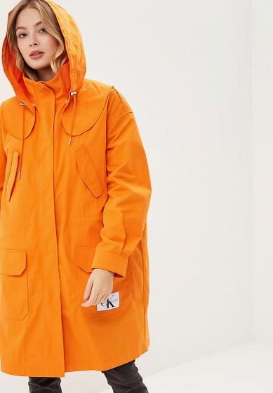 Парка, Calvin Klein Jeans, цвет: оранжевый. Артикул: CA939EWBTHR6. Одежда / Верхняя одежда / Парки