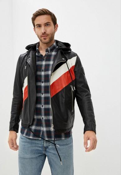 Куртка кожаная Diesel за 41 096 ₽. в интернет-магазине Lamoda.ru