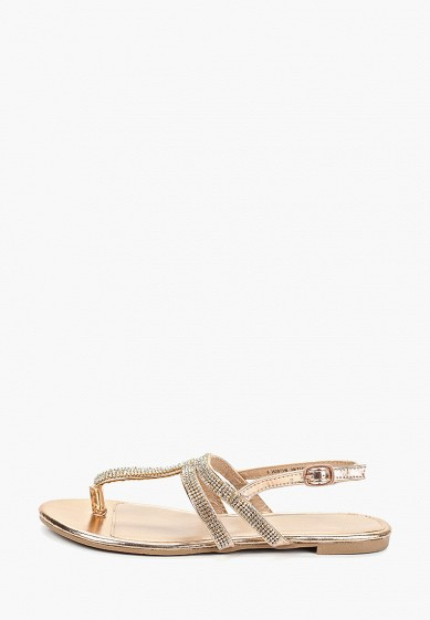 Сандалии, Dorothy Perkins, цвет: золотой. Артикул: DO005AWFHWO1. Обувь