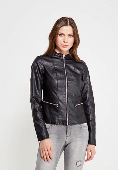 Куртка кожаная, Dorothy Perkins, цвет: черный. Артикул: DO005EWAMMQ7. Одежда / Верхняя одежда