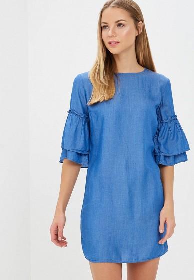 Платье, Dorothy Perkins, цвет: синий. Артикул: DO005EWBBXS2. Одежда / Платья и сарафаны