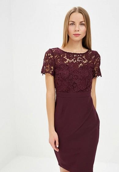 Платье, Dorothy Perkins, цвет: бордовый. Артикул: DO005EWDCVZ3. Одежда / Платья и сарафаны
