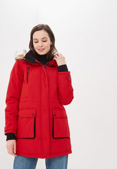 Парка, Dorothy Perkins, цвет: красный. Артикул: DO005EWDPQN1. Одежда / Верхняя одежда / Парки