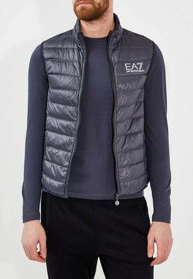 Жилет утепленный, EA7, цвет: синий. Артикул: EA002EMRBK27. Одежда / Верхняя одежда