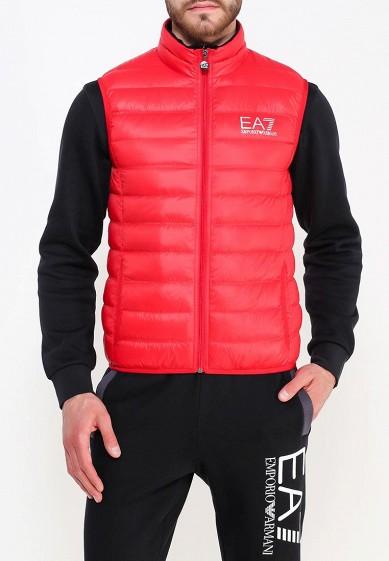 Жилет утепленный, EA7, цвет: красный. Артикул: EA002EMUEE83. Одежда / Верхняя одежда