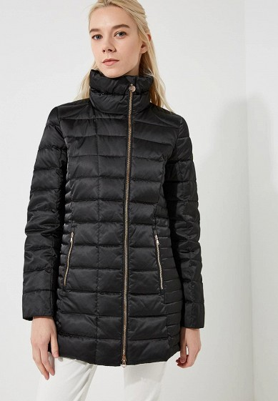 Пуховик, EA7, цвет: черный. Артикул: EA002EWBODU8. Premium / Одежда / Верхняя одежда