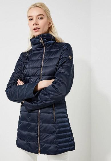 Пуховик, EA7, цвет: синий. Артикул: EA002EWBODU9. Premium / Одежда / Верхняя одежда