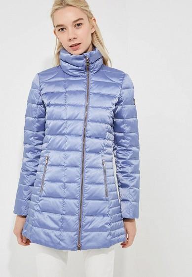 Пуховик, EA7, цвет: голубой. Артикул: EA002EWBODV0. Premium / Одежда / Верхняя одежда