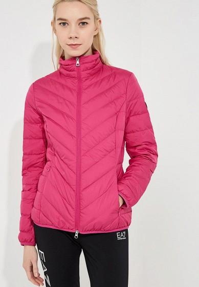 Пуховик, EA7, цвет: розовый. Артикул: EA002EWBODV8. Premium / Одежда / Верхняя одежда