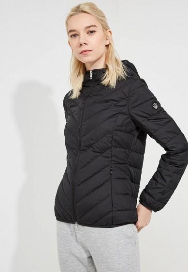 Пуховик, EA7, цвет: черный. Артикул: EA002EWBODW0. Premium / Одежда / Верхняя одежда