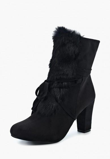 Ботильоны, Exquily, цвет: черный. Артикул: EX003AWYCO28. Обувь / Ботильоны