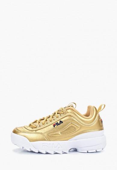Кроссовки, Fila, цвет: золотой. Артикул: FI030AWESRQ4. Обувь / Кроссовки и кеды / Кроссовки