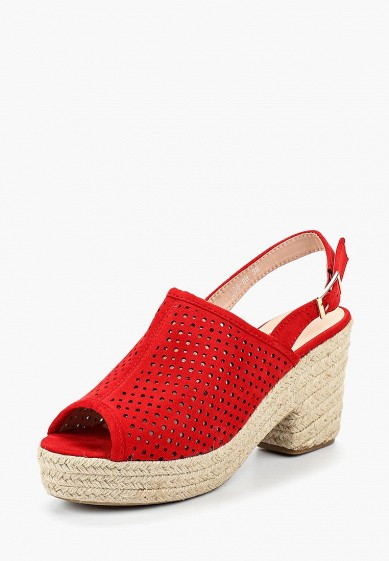 Босоножки, Girlhood, цвет: красный. Артикул: GI021AWBRIK9. Обувь