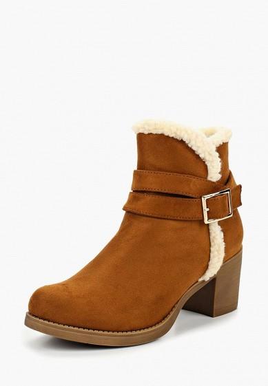 Ботильоны, Girlhood, цвет: коричневый. Артикул: GI021AWCYRN5. Обувь / Ботильоны