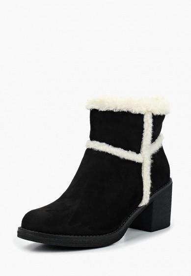 Ботильоны, Girlhood, цвет: черный. Артикул: GI021AWDANO3. Обувь / Ботильоны