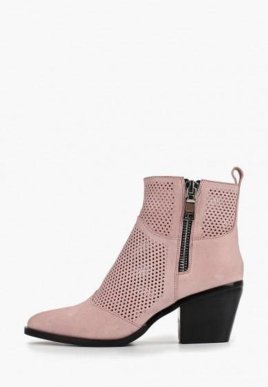 Ботильоны, Grand Style, цвет: розовый. Артикул: GR025AWEOSW2. Обувь / Ботильоны