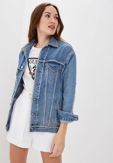 89945c59743302 Куртка джинсовая Guess Jeans купить за 7 340 руб GU644EWDKOM3 в  интернет-магазине Lamoda.ru
