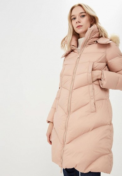 Пуховик, Hetrego, цвет: розовый. Артикул: HE832EWCRYD8. Premium / Одежда / Верхняя одежда