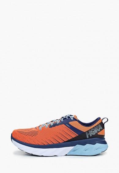 Кроссовки, Hoka One One, цвет: оранжевый, фиолетовый. Артикул: HO015AMEHIL6. Hoka One One