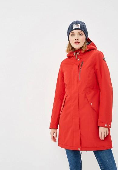 Парка, Icepeak, цвет: красный. Артикул: IC647EWCOSW7. Одежда / Верхняя одежда / Парки