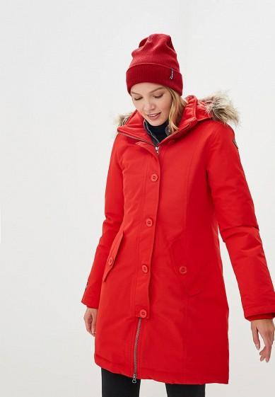 Парка, Icepeak, цвет: красный. Артикул: IC647EWCOSX3. Одежда / Верхняя одежда / Парки