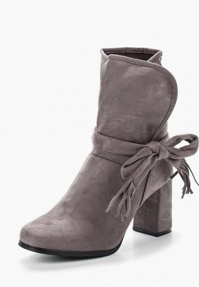 Ботильоны, Ideal Shoes, цвет: серый. Артикул: ID005AWVUG74. Обувь / Ботильоны