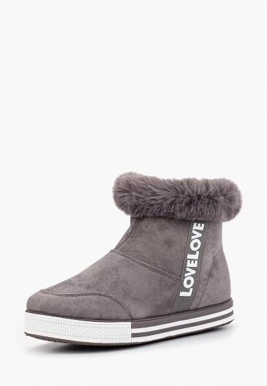 Ботильоны, Ideal Shoes, цвет: серый. Артикул: ID007AWCYRZ8. Обувь / Ботильоны