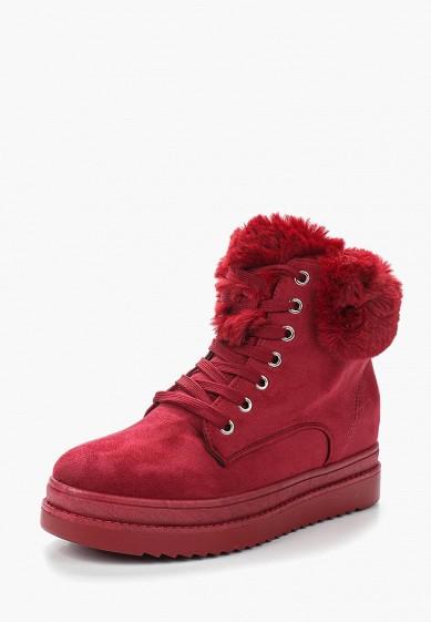 Ботильоны, Ideal Shoes, цвет: бордовый. Артикул: ID007AWXYV94. Обувь / Ботильоны