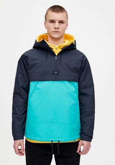 Куртка утепленная, Pull&Bear, цвет: бирюзовый. Артикул: IX001XM001AC. Одежда / Верхняя одежда / Пуховики и зимние куртки