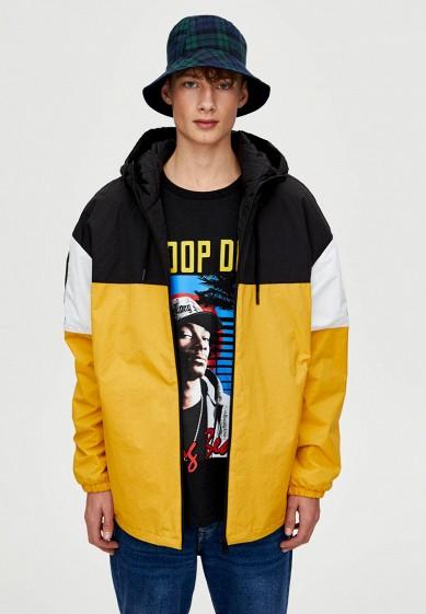Куртка утепленная, Pull&Bear, цвет: желтый. Артикул: IX001XM001AH. Одежда / Верхняя одежда / Пуховики и зимние куртки