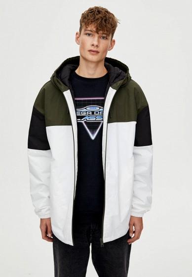 Куртка утепленная, Pull&Bear, цвет: белый. Артикул: IX001XM001C7. Одежда / Верхняя одежда / Пуховики и зимние куртки