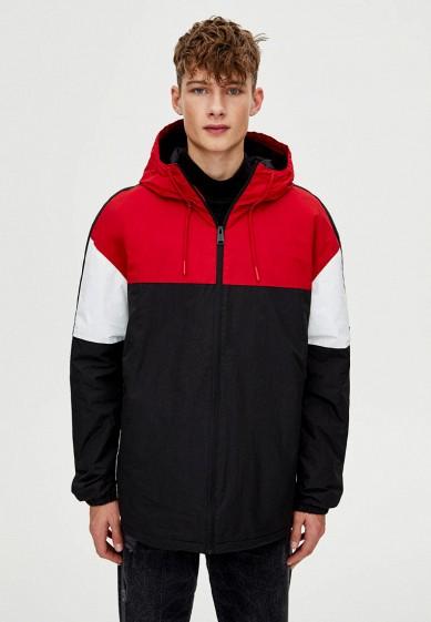 Куртка утепленная, Pull&Bear, цвет: черный. Артикул: IX001XM001C9. Одежда / Верхняя одежда / Пуховики и зимние куртки