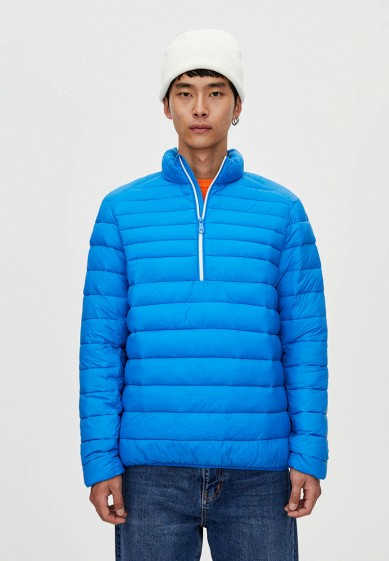 Куртка утепленная, Pull&Bear, цвет: синий. Артикул: IX001XM001DP. Одежда / Верхняя одежда / Пуховики и зимние куртки
