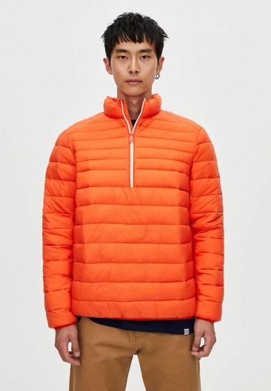 Куртка утепленная, Pull&Bear, цвет: оранжевый. Артикул: IX001XM001DQ. Одежда / Верхняя одежда / Пуховики и зимние куртки