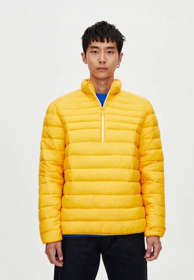 Куртка утепленная, Pull&Bear, цвет: желтый. Артикул: IX001XM001DS. Одежда / Верхняя одежда / Пуховики и зимние куртки