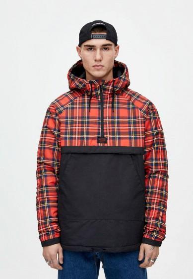 Куртка утепленная, Pull&Bear, цвет: мультиколор. Артикул: IX001XM001GY. Одежда / Верхняя одежда / Пуховики и зимние куртки