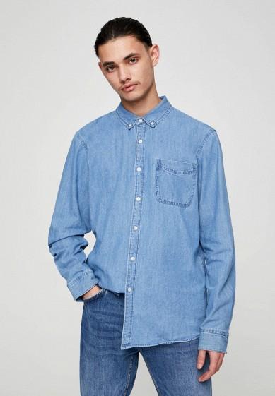 Рубашка джинсовая Pull&Bear за 1 299 ₽. в интернет-магазине Lamoda.ru