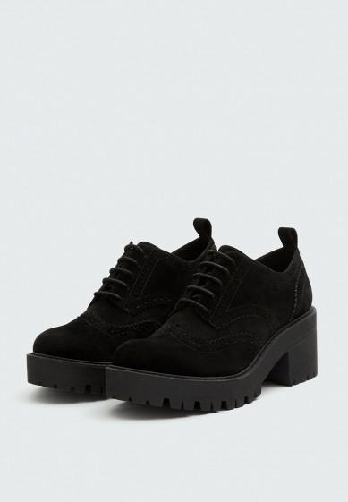 Ботильоны, Pull&Bear, цвет: черный. Артикул: IX001XW00289. Обувь / Ботильоны